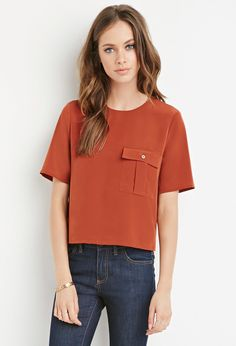 Boxy Pocket Top   Forever 21 - 2000161832