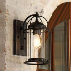 So pretty - especially for an outdoor light! Verano Outdoor Wall Sconce | Ballard Designs. Pinned by juliakatrine.com