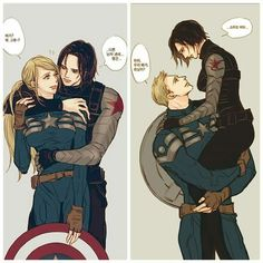 I don't understand Korean but this is so ducking cute All Avengers, Marvel Dc Comics, Marvel Avengers, Captain America And Bucky, Winter Soldier Bucky, Bucky And Steve, Stucky, Marvel Memes, Bucky Barnes