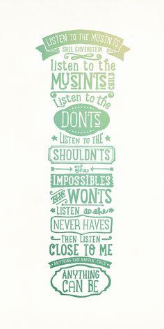 Shel Silverstein poem poster