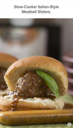 Melted mozzarella and savory meatballs are nestled within mini slider ...