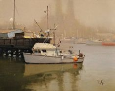 The Lady Alice Moss Landing by Brian Blood Oil ~ 11 x 14