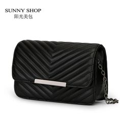 SUNNY SHOP Spring Small Women Messenger Bags Candy Color Leather Shoulder Bags Girl Fashion Chain Designer Handbags High Quality