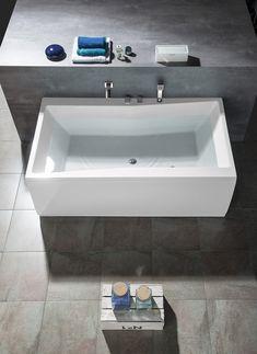 QUEST obdélníková vana 180x100x49cm, bílá : SAPHO E-shop Bath Screens, Bathtubs, Sink, Bathroom, Shopping, Home Decor, Sink Tops, Washroom, Vessel Sink