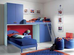Camera con soppalco FABRIZIO #camerette #furnishing #bedrooms #design