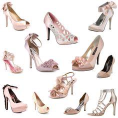 Light pink / blush wedding shoes.
