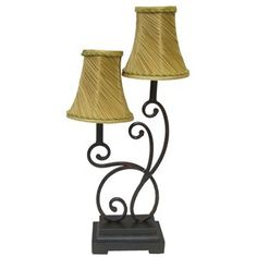 Two Light Lamp with Swirl Shades | Shop Hobby Lobby