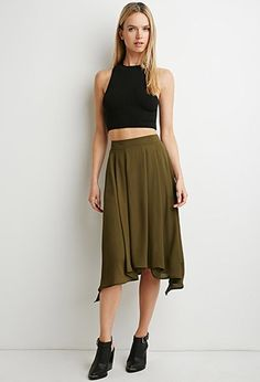 Contemporary Pleated Asymmetrical Skirt | Forever 21 Contemporary - 2000140707