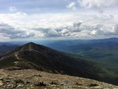 View from Franconia Notch State Park, New Hampshire.