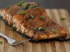 Maple-Balsamic Glazed Salmon