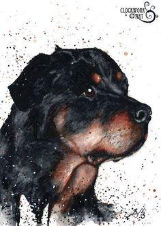 """Bear"" watercolour, 2013 COMMISSION www.clockworkart.com"