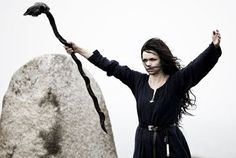 """Völur; The Old Norse word vǫlva means """"wand carrier"""" or """"carrier of a magic staff > Proto-Germanic *walwōn, derived from """"wand"""" (Old Norse vǫlr). Vala, on the other hand, is a literary form based on Völva. A spákona or spækona (Old English, spæwīfe) is a """"seer, one who sees"""", < Old Norse spá or spæ, cognate with the present English word """"spy,"""" > Proto-Germanic *spah- and the Proto-Indo-European root speḱ (to see, to observe). A practitioner of seiðr is a seiðkona (female) or a seiðmaðr…"""