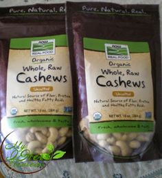 Now Foods, Certified Organic Real Food, Whole, Raw, Cashews, Unsalted