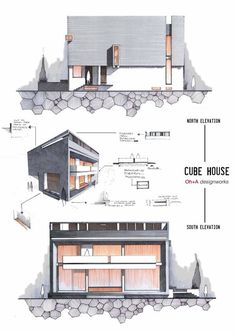 Elevations by Anique Azhar, via Behance: