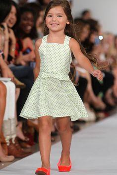 Oscar de la Renta Spring 2013 childrenswear collection.  Photo / AP