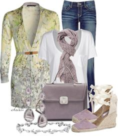 """""""Jeans and White T"""" by christa72 on Polyvore"""