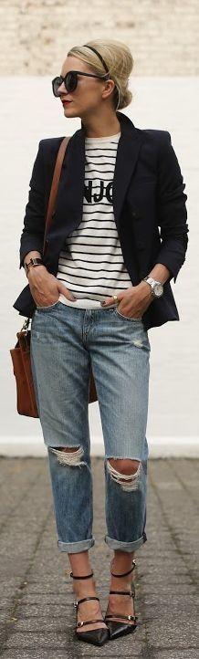 Fashionista: Walking Style Blazer to Jeans