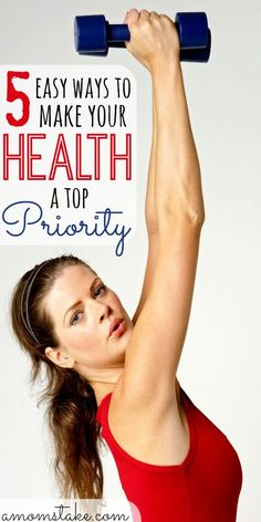 Being a mom means sacrifice, but don't let it sacrifice your own well being. These 5 easy ways to help make your health a top priority are super easy to seamlessly add to your daily routine, without a lot of sacrifice. via @amomstake