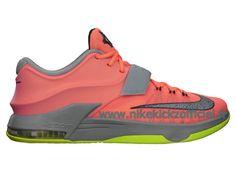 Site Nike KD 7/VII Chaussures Officiel Nike Pour Homme Bright Mango/Space Bleu-Light Magnet Gris 653996-840