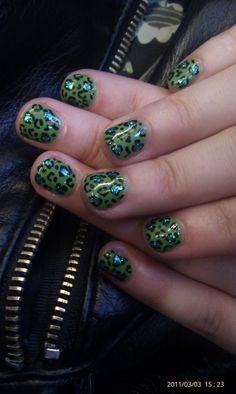 I didn't know  leopards could be green...I'm sure they'd look cute though. Yeah they would.