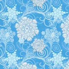 Jewels of the North Wind fabric by joanmclemore on Spoonflower - custom fabric. Snoooow