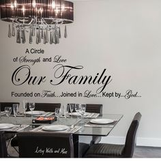 our family a circle of strength and love wall quote vinyl decal sticker
