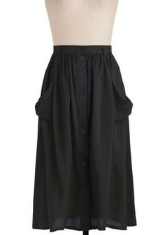 Just Dandy Skirt in Black, #ModCloth