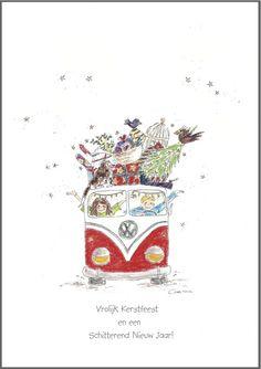 Kerstkaart `assortiment van 4 stuks` Aanbieding!