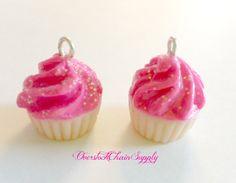 Handmade Polymer Clay Kwaii Cupcake Charm by OverstockChainSupply, $1.75