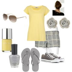 Grey and Yellow, created by shemshay on Polyvore