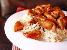 Bourbon Chicken (without the bourbon) - this is already a favorite!