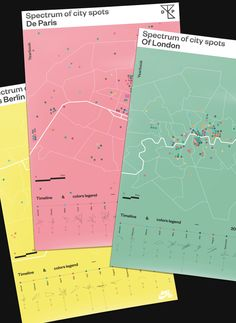 Spectrum of city spots appears in the three skateboarding yearbooks De Paris Of London & Aus Berlin in collaboration with Nike Skateboarding. Map design and Graphic Design by Studio Jimbo Paris Poster Design, Map Design, Graphic Design Illustration, Graphic Design Art, Promo Flyer, Planer Layout, City Map Poster, Buch Design, Information Design