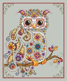 click here to view larger image of Paisley Owl (chart)