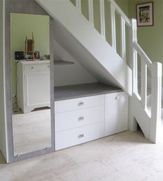 Discover recipes, home ideas, style inspiration and other ideas to try. Stair Shelves, Staircase Storage, Stair Storage, Closet Storage, Desk Under Stairs, Closet Under Stairs, Understairs Storage Space, Home Upgrades, Living Room Designs