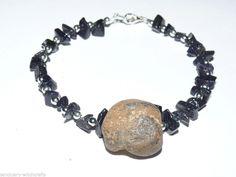 Fairy/ holey/ wishing/ Odin stone. Hag Stones, Jewelry Bracelets, Jewellery, Fairy, Charmed, Unisex, Amp, Natural, Blue
