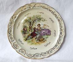 French vintage plate, Limoges, with Fragonard decoration. $20.00, via Etsy.