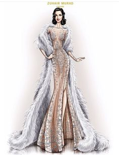 That is a gorgeous winter dress. Fashion Illustration