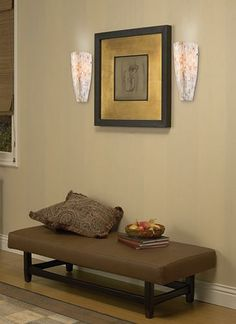 How to Decorate with Sconces | Contemporary hallway decorating with wall sconces.