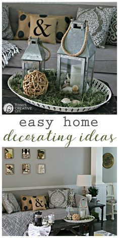 Easy Home Decorating Ideas with inexpensive Better Homes and Gardens products. Find stylish, simple and quick ways to decorate your home. #sponsored