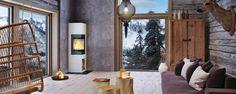 bi folding doors with log burner Orangery Extension, Wood Burning Fires, Log Burner, Odense, Folding Doors, Easy Install, Wood Wall, Home Interior Design, Stoves