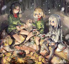 Girls und Panzer,Anime,Аниме,Katyusha,Nonna,Kantai Collection,KanColle,Verniy,Verniy (Kantai Collection),GSong-chan,crossover