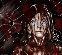 Carrie ~~ Horror/Thriller ~~ Take Carrie to the prom. I dare you! ~~ Artwork by Satellite Ghost Horror Movie Characters, Horror Films, Horror Art, Horror Icons, Carrie Stephen King, Stephen King Movies, Stephen Kings, Carrie White, Wolf