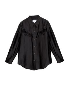 NAGA - Western detailed shirt - Black Black Satin, Westerns, Model, How To Wear, Shirts, Collection, Tops, Style, Fashion