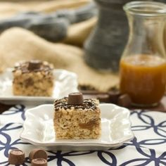 Rice Krispie Treats with Caramel and Rolos