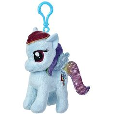 """Aurora World My Little Pony Clip-On Rainbow Dash Pony Plush, 4.5"""" *** Read more at the image link. (This is an affiliate link) #StuffedAnimalsPlushToys"""