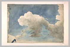 Etude de ciel nuageux Eugene Delacroix