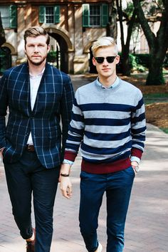 The boys of Brothers & Craft show their stripes. Share how you wear yours with #MyTommyMag