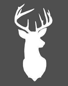 Tête de cerf impression d'Art Art de cerf Art par honeytreeprints