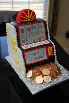 A Slot Machine Cake will make a great birthday surprise ...