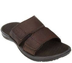9629c3b7e27e Vionic with Orthaheel Men s Orthotic Leather Slide Sandals - Jon